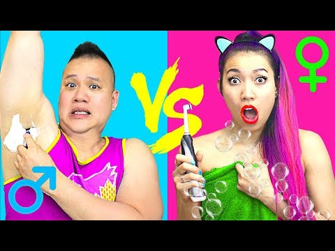 GIRLS vs. BOYS Morning Routine! SCHOOL EDITION (CC Available)