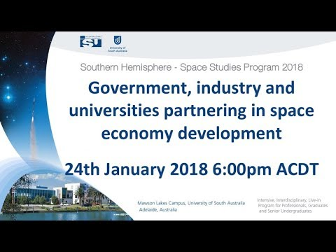 SHSSP18 Government, industry and universities partnering in space economy development