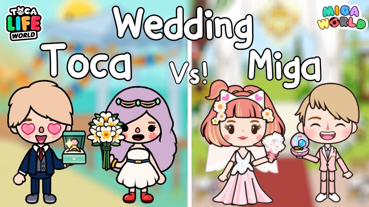 Toca Wedding Vs Miga Wedding 👰🏼♀️🤵🏼💍💕| งานแต่งงาน | Toca Life World | Miga World 🌎