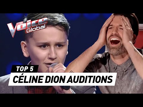 INCREDIBLE CÉLINE DION Blind Auditions in The Voice Kids