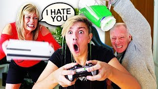 IGNORING MY PARENTS FOR 24 HOURS!! *Gone Too Far* thumbnail