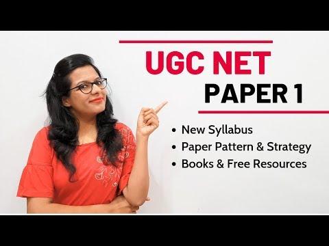 NTA UGC NET Paper 1- Complete Syllabus, Paper Pattern, Strategy & Books