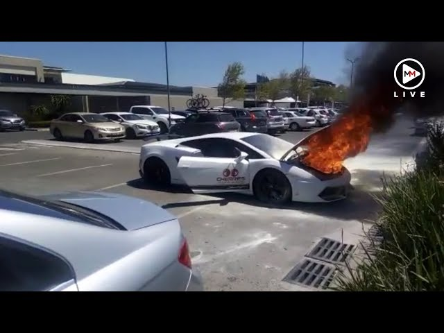 Watch Cape Town Lamborghini Driver Heard A Bang Then Saw Flames