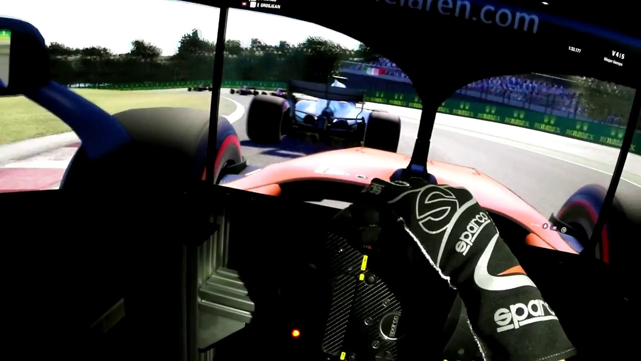 f1 2018 pc game onboard driver s eye triple monitor. Black Bedroom Furniture Sets. Home Design Ideas