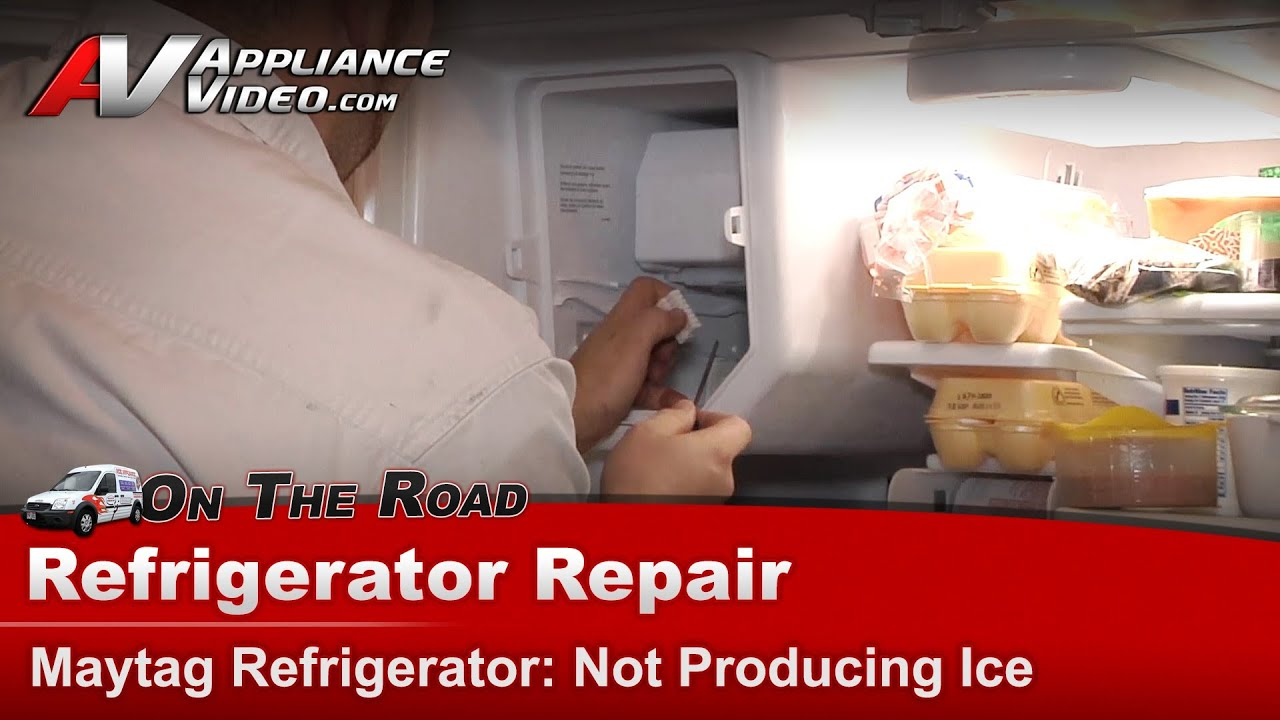 maxresdefault refrigerator repair not making ice maytag,whirlpool,kitchenaid Maytag MFI2568AEB Not Making Ice at gsmx.co