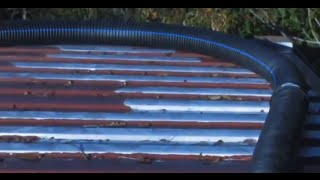 Soda Can Solar Heater 2500 cubic feet alternative forced air heating