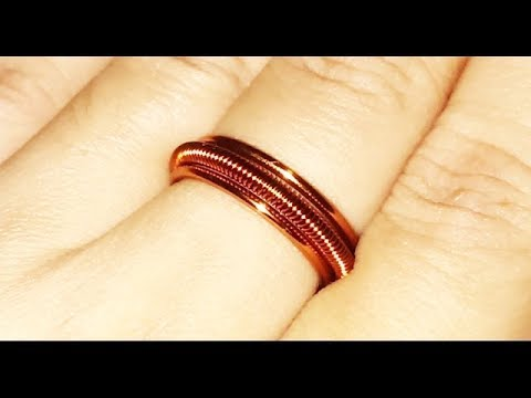 296aa04b7055d3 Easy copper ring for beginners - how to make wire wrap jewelry 82. Lan Anh  Handmade