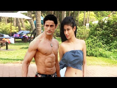 Mouni Roy On Beach With Boyfriend Mohit Raina