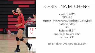 Christina Cheng, Volleyball, 2018 Fall season highlights.