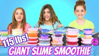 115 lb Slime Smoothie!  Mixing All Of Our Slimes!