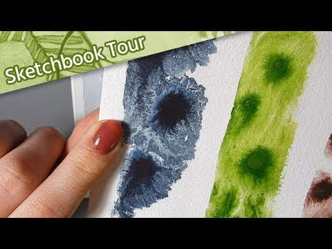 Sketchbook Tour XVI // Flip-through 2019 // Watercolour Sketchbook // Mary Sanche