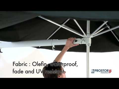 Parasol mural bras t lescopique prostor p3 youtube - Parasol mural castorama ...