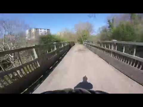 Water of Leith Path - Cycling between Currie and Spylawpark - bike cycle Edinburgh