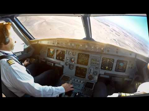 Oujda GMFO Cockpit view Visual approach rwy 06