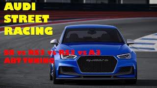 Audi S8 vs Audi RS3 vs Audi A3 ** ABT TUNING