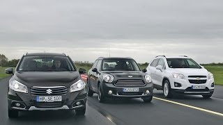 Suzuki SX4 S-Cross vs. Chevrolet Trax vs. Mini Countryman