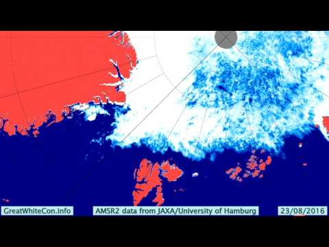 Sea Ice Movement in the Greenland and Barents Seas in Summer 2016