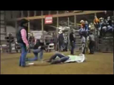 Girl tackle guy in musical chair