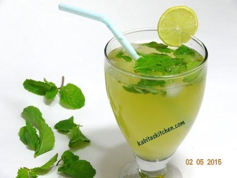 Mint Lemonade Recipe-Refreshing Nimbu Pudina Sharbat-Lemonade Indian Style