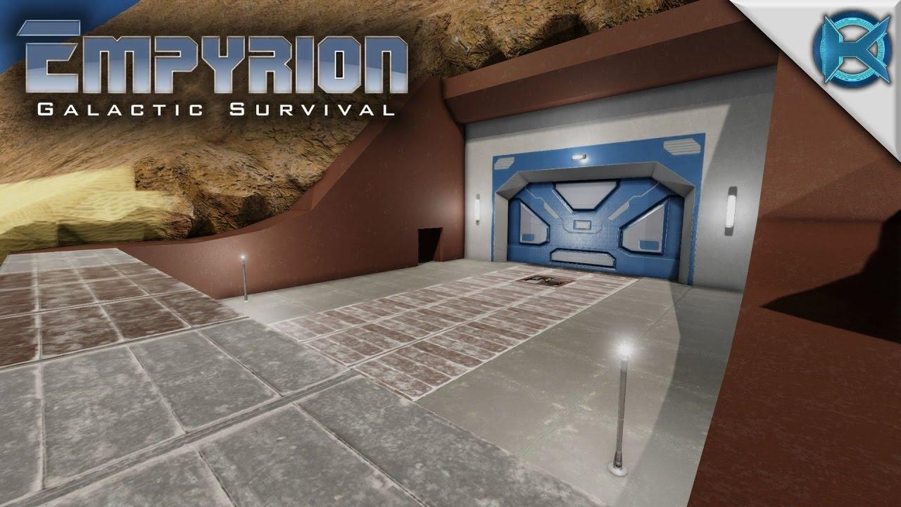 empyrion galactic survival mountain base entrance let s play empyrion gameplay alpha 6 s11e05