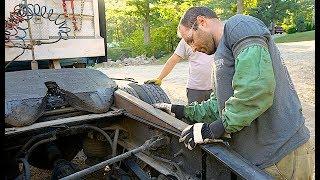 Ремонт. США: Изготовление  наездов для трала на седло.