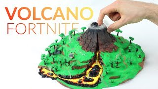 Making the Volcano (Fortnite Battle Royale) – Polymer Clay
