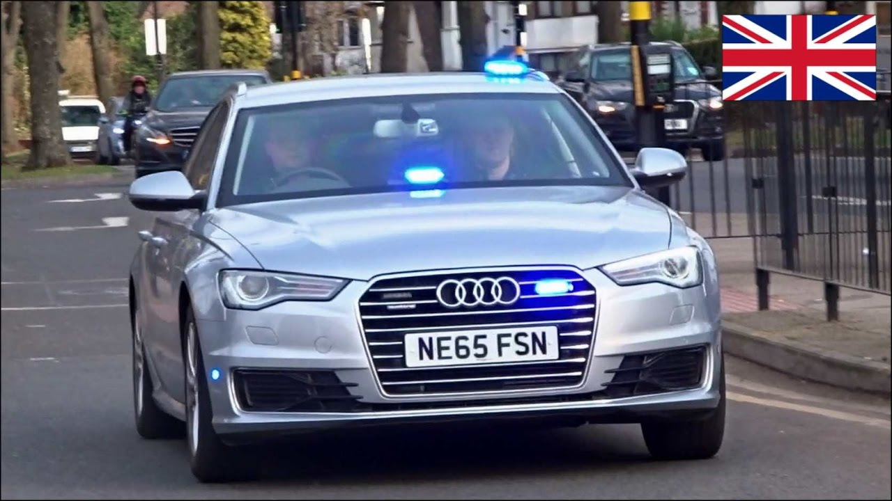Unmarked Police Cars Responding X2 New Audi A6 Armed