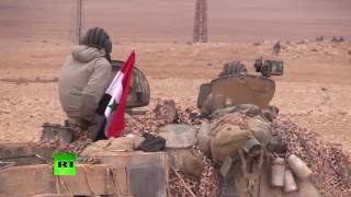 SAA soldiers on outskirts of Palmyra (EXCLUSIVE)