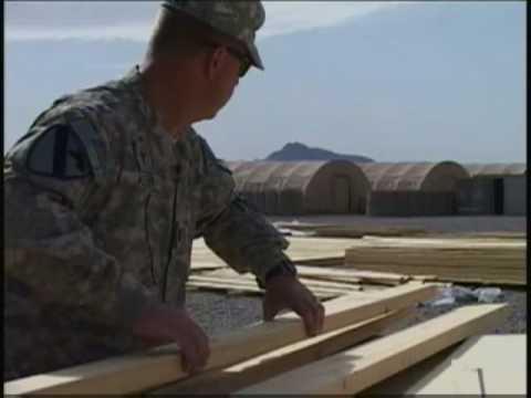 A U.S. Army chaplain builds