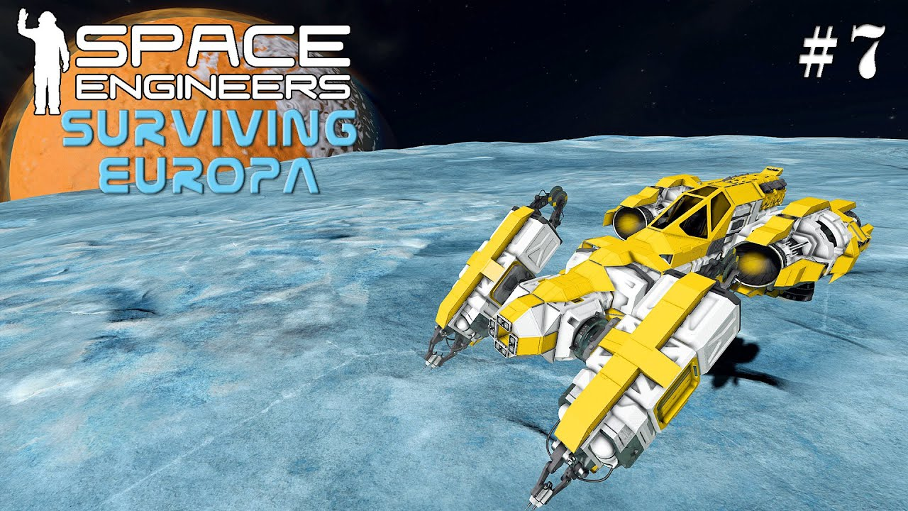 Space Engineers Surviving Europa: Building A Welding and Grinding Ship In One EP7