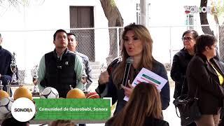 Ahora en #Querobabi la Gober entrega apoyos a la comunidad 👍🏽
