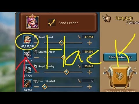 Lords Mobile Troops 90M Hack [New Update]- How Impossible To Hack Troops Tier 3 Royal Guard?