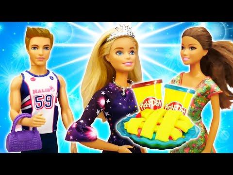 Игры для девочек - У куклы Барби День Рождения! Что приготовили подруги? – Видео с игрушками.