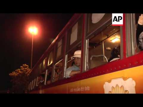 Anti-government protesters leave camp after coup