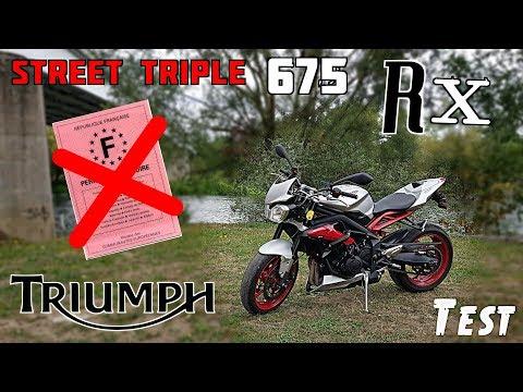 """Le meilleur moyen de perdre son permis 😍 """"Triumph Street Triple 675 RX"""""""
