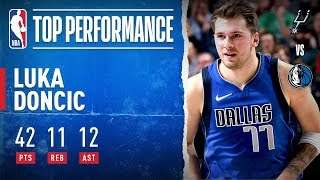 Luka Drops a CAREER-HIGH 42-PT Triple-Double!