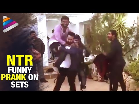 NTR Funny Prank on Nannaku Prematho Sets | Exclusive Video | Telugu Movie 2015 | Telugu Filmnagar
