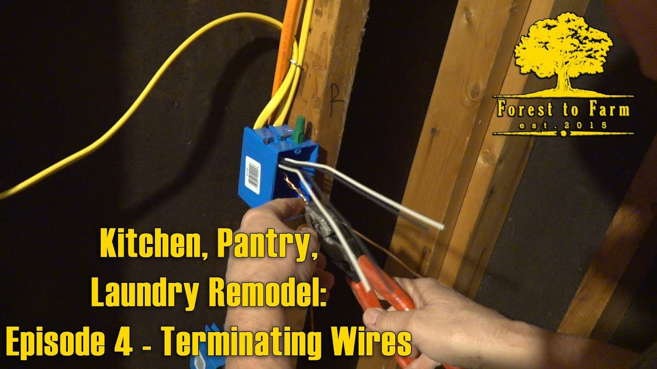 small resolution of terminating wires kitchen remodel e4