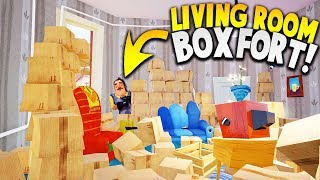 BUILDING AN EPIC BOX FORT IN THE MIDDLE OF THE NEIGHBOR