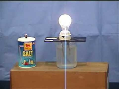 How To Make A Light Turn On With Salt And Water - YouTube