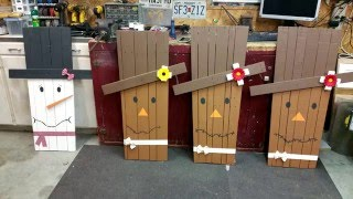 This video shows how to make a Scarecrow or Snowman out of a pallet...