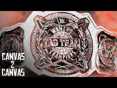 The STUNNING new WWE Women's Tag Team Title hits the canvas! - Canvas 2 Canvas