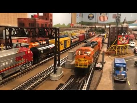 "Ron Brenner's Huge ""High Rail"" Lionel O Scale Train Layout also with MTH, Atlas, K-Line, & Weaver"