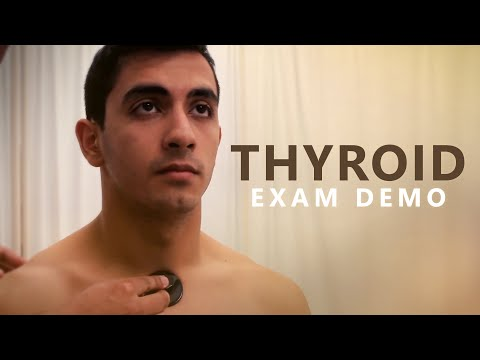 Thyroid Gland Examination - OSCE Exam Demonstration