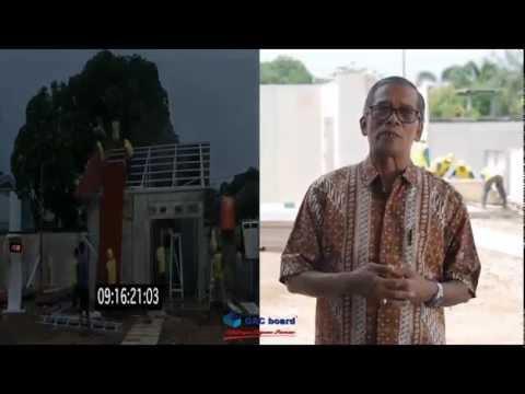 Pencatatan Rekor MURI Pembangunan Rumah Modular Tercepat oleh Tim GRC board