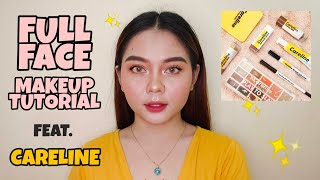 FULL FACE STEP BY STEP MAKEUP TUTORIAL FOR BEGINNERS Feat. Affordable Products from Careline
