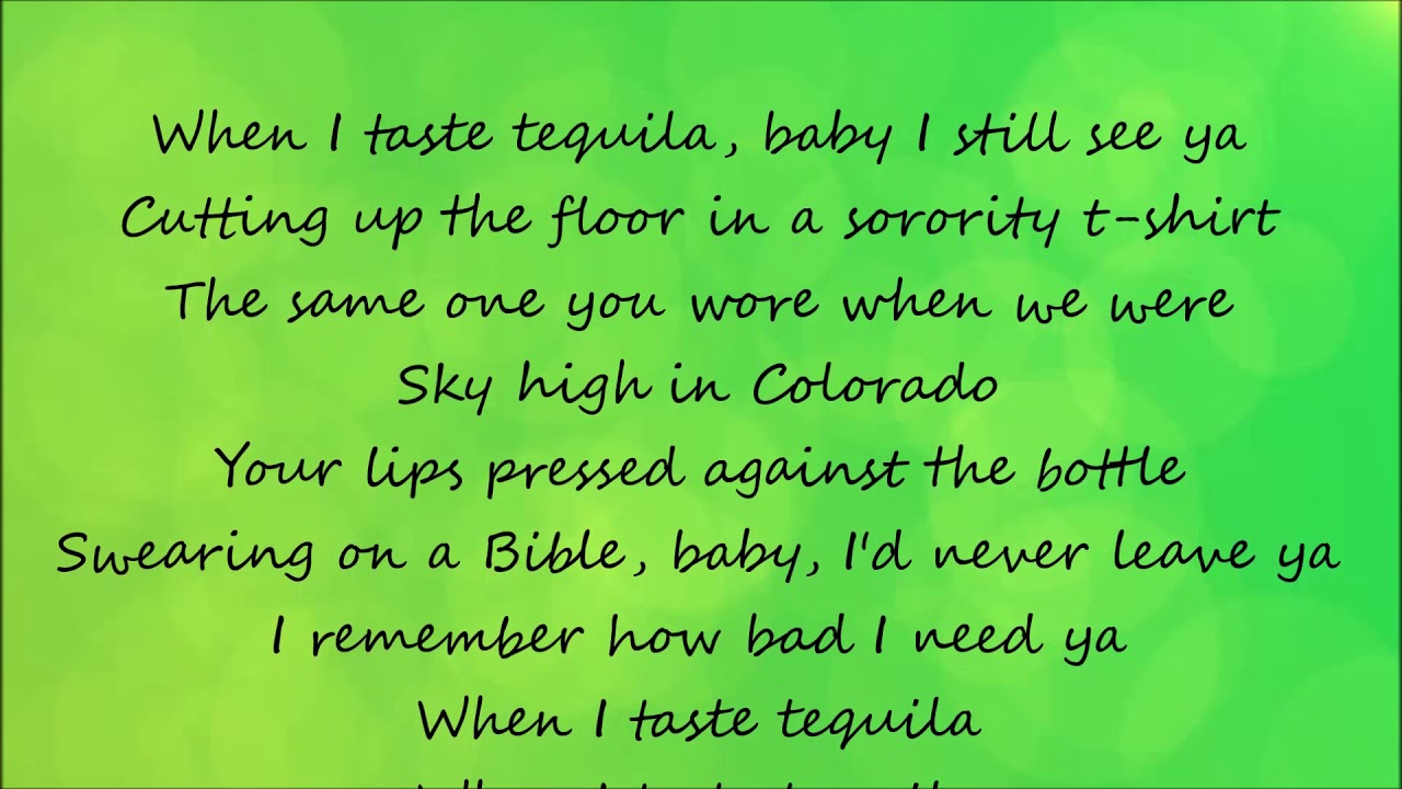 Tequila  Dan  Shay Lyrics  YouTube