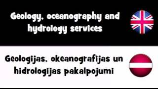VOCABULARY IN 20 LANGUAGES = Geology, oceanography and hydrology services(, 2011-04-05T04:48:26.000Z)