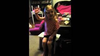 My girl singing Italian
