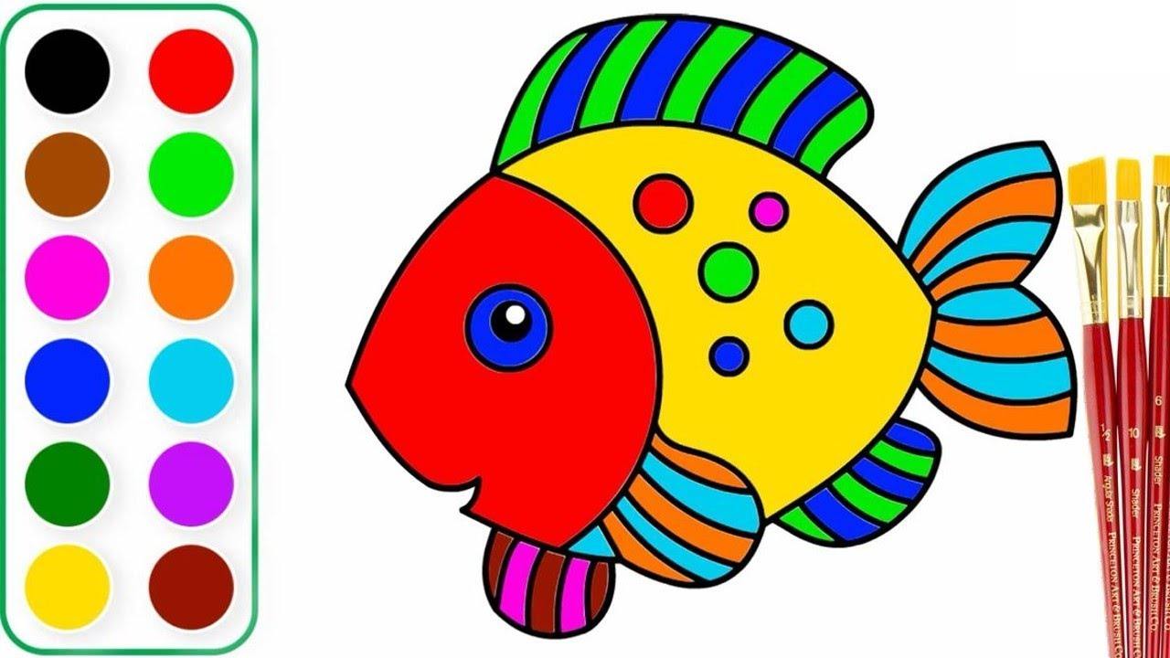 Fantastic Colors Of Fish Image - Drawing Coloring - androidharga.info